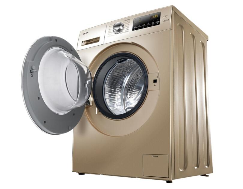 海尔滚筒式洗衣机,会烘干的洗衣机